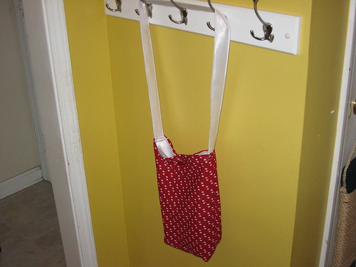 Finished Polka Dot Tote!