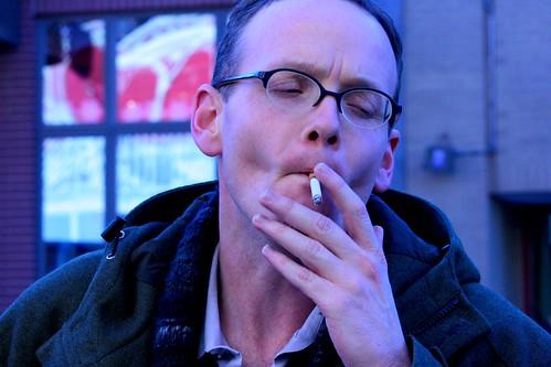 Stu smokes