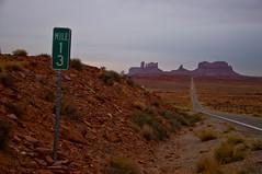 Mile Marker 13 (wenzday01) Tags: road travel car utah ut nikon driving nikkor monumentvalley d90 mile13 route163 nikond90 ut163 milemarker13 18105mmf3556gedafsvrdx