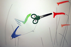 pájaro mosca