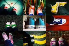 Nine things about me (nonaptych) () Tags: pink red orange colour green film yellow collage silver lomo lca xpro crossprocessed nikon shoes fuji purple kodak superia turquoise nine d70s olympus things ishootfilm trainers tagged converse montage colourful elitechrome superia400 polyptych allstar chucks aboutme elitechrome100 royalblue elitechrome400 om4ti nonaptych