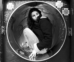 Eugenia, donna vitruviana (Valentina * Photoiama.com *) Tags: portrait people blackandwhite woman girl monochrome wheel circle square donna bn persone round squaredcircle sicily rg ritratto squared position sicilia divertenti biancoenero ragusa