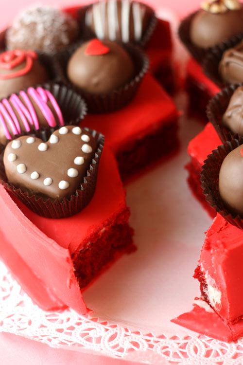 Red Velvet Cake Box