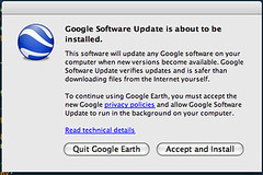 """You must allow Google Software Update to run in the background on your computer."""