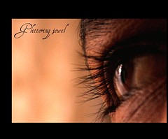Gliterring jewel (D E J A V U B Y S I M) Tags: eye glitter eyelashes delhi cousin jewel paras dfc concordians theperfectphotographer