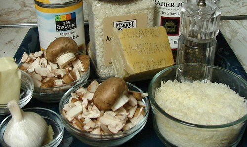 Ingredients for M. Risotto