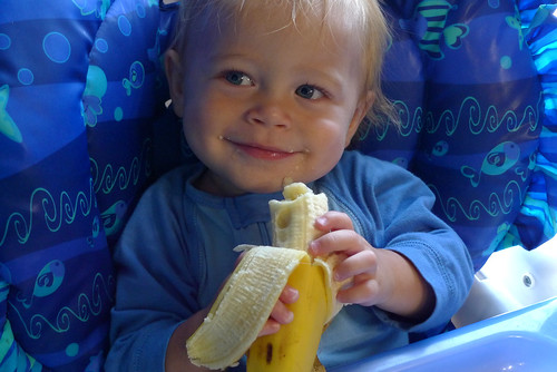 Jack eating a banana