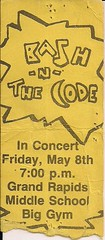 05/08/88 Bash 'N' The Code @ Grand Rapids, MN (Ticket)