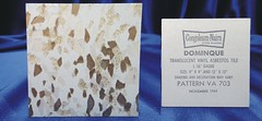 Congoleum-Nairn Dominique Vinyl Asbestos Floor Tile # VA 703 (Asbestorama) Tags: glitter vintage tile 60s floor vinyl retro safety sparkle sample translucent 1960s resilient salesman 1964 nairn asbestos covering congoleum specifier