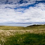Panorama shot while stopped on the way to the Old Man of Storr.
