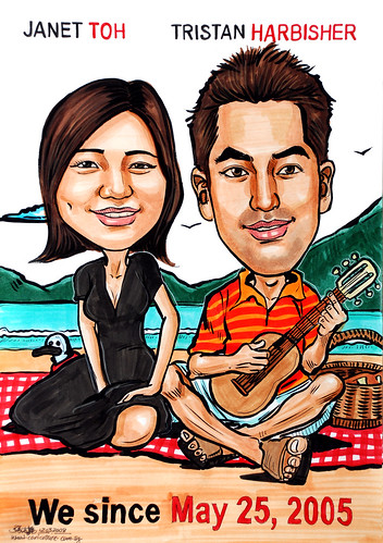 Caricatrues couple 50 First Dates
