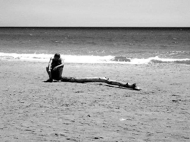 Sampieri, a lonely man