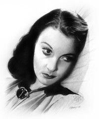 Vivien Leigh (pbradyart) Tags: portrait bw art pencil movie star sketch artwork drawing pencildrawing vivienleigh artisticexpression aworkofart mywinners simplyperfect