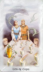 Ten of Cups (Llewellyn Worldwide) Tags: cards dragon cups tarot celtic llewellyn arcana fortunetelling newage metaphysical majorarcana divination tarotreading tarotcards minorarcana tenofcups celticdragon tarotspread celticdragontarot