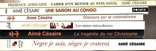 Des livres d'Aimé Césaire