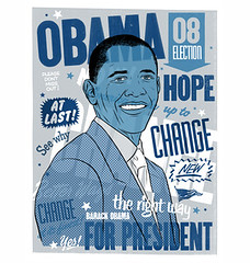 Morning Breath (a35mmlife) Tags: blue art print hope election yes clinton president silkscreen hillary change obama 08 barackobama barack upperplaygroundcom