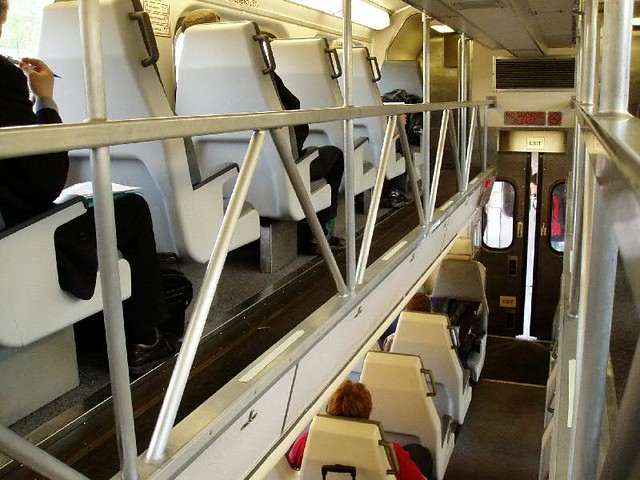 Inside of Caltrain coach