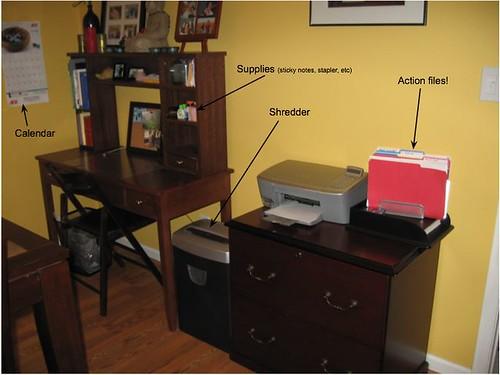 Crystal's desk area