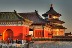 Sunrise at Temple of Heaven (avirus) Tags: china building sunrise temple heaven beijing complex hdr taoist emperor earlymoring