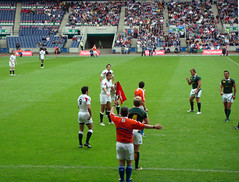 England versus South Africa at International Rugby Sevens, Murrayfield, Edinburgh