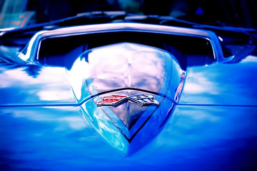 Looking Up A Sting Ray's Nose - a Chevrolet Corvette Sting Ray in Stayton Oregon