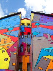 ... And More Houses (Digital Owl) Tags: houses sky buildings painted paintings drawings symmetry colourful barakaldo mge flickrcolour digitalowl digiowl colorsinourworld