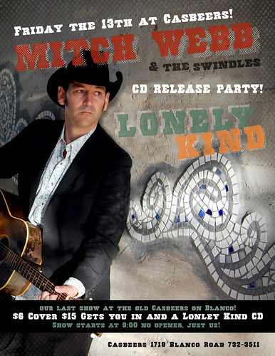 Mitch Webb CD Release Poster