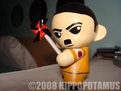 PROVOCATIVE STANCE (hippop0tamus) Tags: china art germany toys golden robot kid paint acrylic kim russia politics hitler vinyl korea il kidrobot josef mao leaders custom adolf liquid stalin jong dictators zedong munny