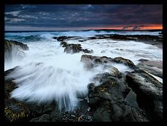Crashing (orvaratli) Tags: ocean longexposure travel sunset sea seascape water rock landscape coast iceland reykjanes icelandic thegreatshooter arcticphoto rvaratli orvaratli