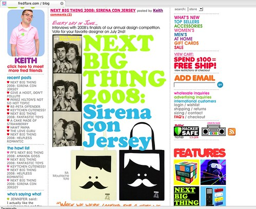 Sirena con Jersey selected in the Next big thing 2008 by Fredflare