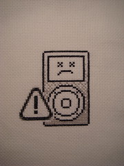 sad iPod (benjibot) Tags: apple crossstitch ipod sad crafts