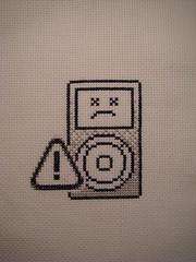 sad iPod (benjibot) Tags: apple crossstitch ipod sad crafts