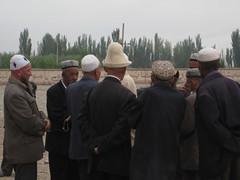 Kashgar animal market: hats
