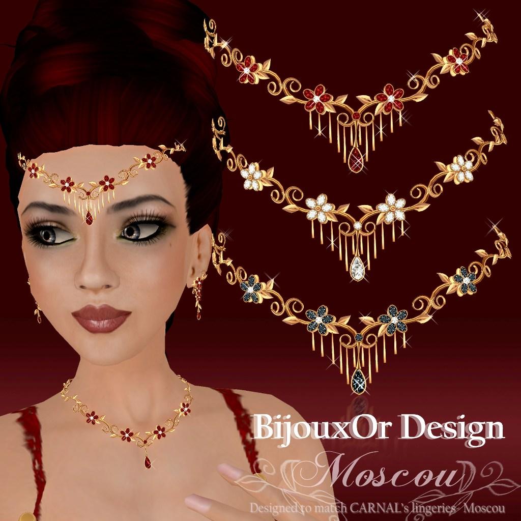 gold Moscou forehead tiara poster