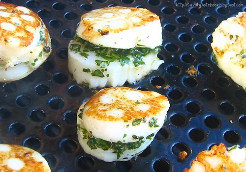Basil Stuffed Scallops