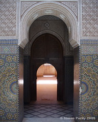 Mosque in Central Morocco (Simon Purdy) Tags: africa art beauty architecture arch northafrica mosaic islam mosque doorway atlasmountains morocco tiles maroc framing orient islamic islamicarchitecture  oldmosque thebestofday gnneniyisi