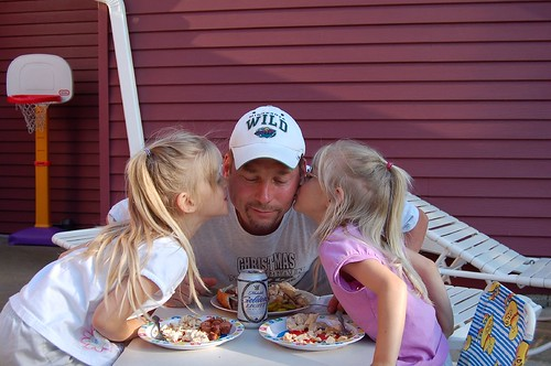 Kisses for dad on Father's Day!