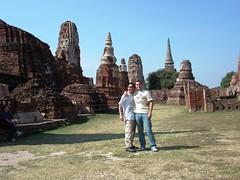 Roberto y yo en Ayutthaya