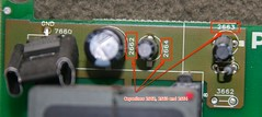 Capacitors 2662, 2663 and 2664