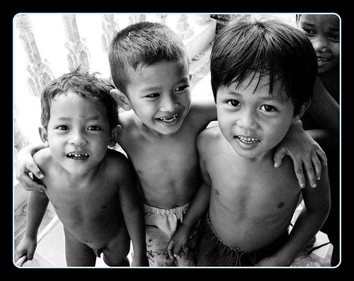 Village Boys in Ton le Sap, Cambodia