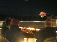 Rhythm and Booms Fireworks Blooming Far Away in the Night