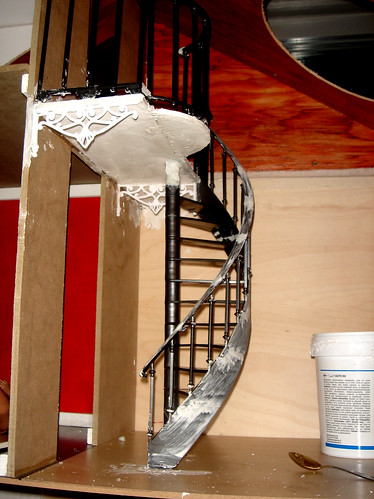 Superb The Stairs Are Put Together From Several Pieces So I Used Putty To Fill All  The Seems.