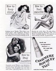 Cool Smooth and Dainty (epiclectic) Tags: vintage magazine ads ad retro ephemera advertisement cashmere bouquet talc c1945 oooooface