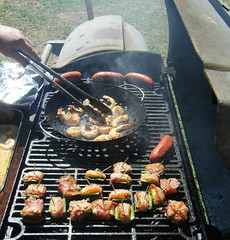 Grilled Shrimp are great for a tailgate party.