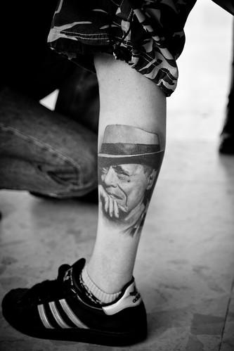 Religious Patriotic in tattoo body