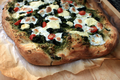 arugula pesto pizza II