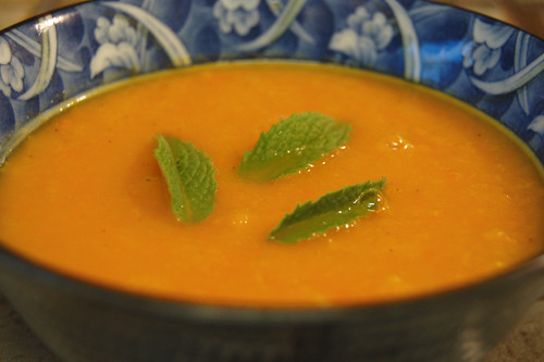 carrot soup with ginger and orange