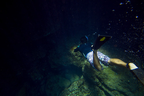 What it really looks like going into the underwater cave