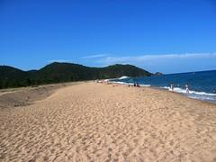 La plage du Cavu vers le Nord : l'Ovu Santu