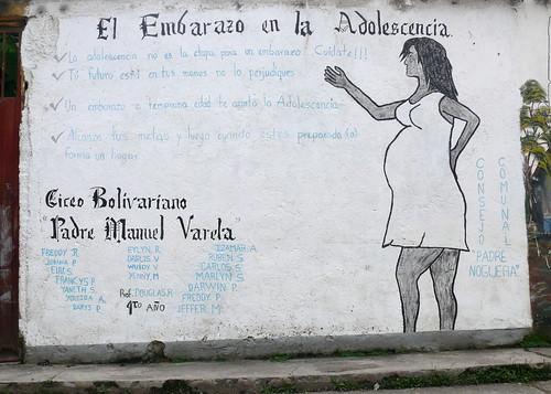 Mural Sobre Embarazo Precoz